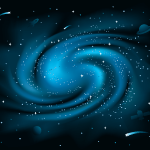blue galaxy illustration